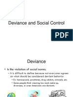 Deviance and Social Control student notes