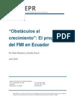 CERP Obstáculos Al Crecimiento - El Programa Del FMI en Ecuador