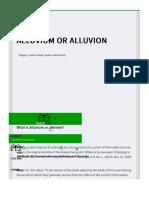 Alluvium or Alluvion