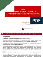 Tema 1 - Información Financiera y Análisis de Estados Financieros