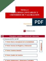 Tema 2 - Principios contable y criterios de valoración