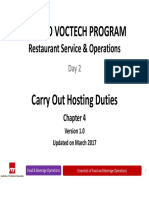 Seameo Voctech Restaurant Operations Chapter 4 Hosting
