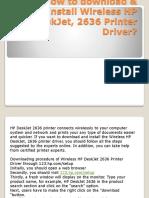 How to Download & Install Wireless HP DeskJet