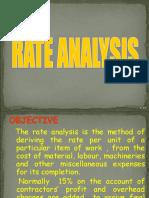 Rate Analysis (1P)