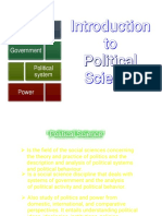 Introduction to Political Science 28129
