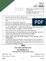 65(B) Mathematics for Blind