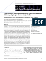 A multiobjective optimization approach to support end-use energy efficiency policy design – the case-study of India