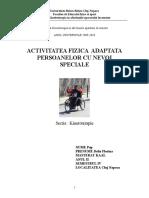 Pop Delia Florina,Activitate Fizica Adptata Persoanelor Cu Nevoi Speciale