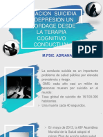 DEPRESION Y SUCIDIO DESDE EL ENFOQUE COGNITIVO CONDUCTUAL [Autoguardado]