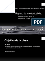 PPT Tipos de Intertextualidad Clase de Repaso
