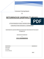Summer training report on BITUMINOUS (ASPHALT) ROAD