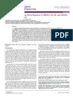 A Comparative Study on Wear Behavior of Al60616 Sic and Al606 16 Graphite Composites