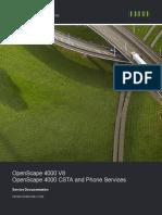 OpenScape 4000 V8, OpenScape 4000 CSTA and Phone Services En