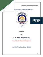2018-19 F.Y.B.Sc. (ELECTRONICS)