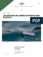 ¿en Qué Parte Del Mundo Se Produce Más Plástico_ - National Geographic en Español