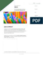 Plástico_ Usos, Clasificación, Características y Contaminación