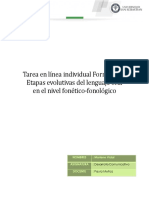 Etapas evolutivas del lenguaje oral en el nivel FF
