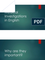 Medical Investigations in English