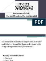 Discussion of Students on Experience as Leader And