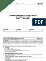 PSA - 7 - 301.1 v01 Limpieza de La Faja