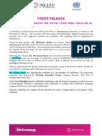 Workshop Press Release