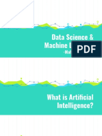 DataScience and Machine Learning Day 1 & Day 2