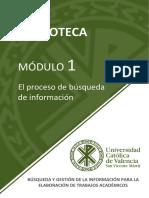 Modulo 1 - El proceso de busqueda de informacion