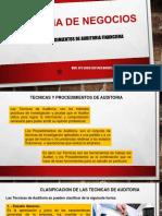 3. Tecnicas y Procedimientos de Auditoria Financiera Externa