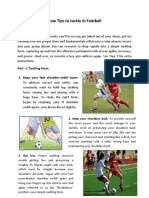 How Tips to Tackle in Football