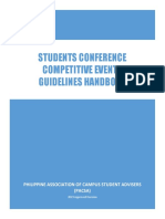 2019 PACSA Student Conference Competititve Events