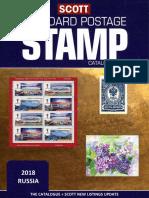 Scott 2018 Standard Postage Stamp Catalogue. Russia