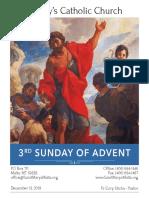 Bulletin for December 15, 2019