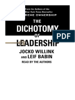 [2018] The Dichotomy of Leadership by Jocko Willink | Balancing the Challenges of Extreme Ownership to Lead and Win | Macmillan Audio