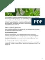 Hydroponik - Arten