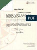 (USMP) Constancia Matricula