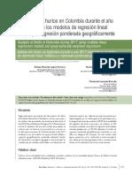 Articulo Analisis Del Hurto en Colombia 2017