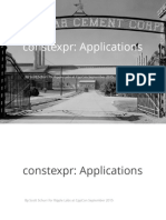 Constexpr Applications - Scott Schurr