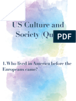 US Culture and Society (Quiz) PDF