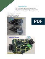 AUDI A6 Q5 ESL ELV Module J518 Repair Solution Repair Kit