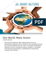 ONE WORLD, MANY ACTORS