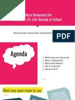 a more balanced life   academic vs