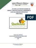 DIRECTIVA PARA LAS CONTRATACIONES DE BIENES Y SERVICIOS IGUALES O INFERIORES A OCHO UITs 30-10-2019.docx