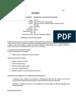 SILABO PREPARACION Y EVALUACION DE PROYECTOS