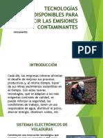 Tecnologías Disponibles Para Reducir Las Emisiones Contaminantes