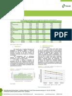 Análise mensal e estimativa de produção de mandioca em 2018