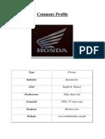 Honda Zargham Project