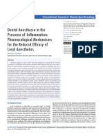 1. Dental Anesthesia in the Presence of Inammation Pharmacological Mechanisms for the Reduced Effcacy of Local Anesthetics