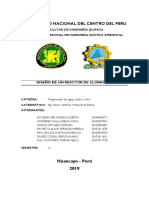 REACTOR DE CLORINACION -TRATAMIENTO DE AIRE ,AGUA Y SUELO
