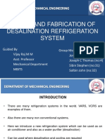 Refrigeration system using vacuum pump