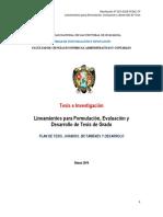 FACEAC_Lineamientos de Formulación, Evaluación y Desarrollo de Una Tesis